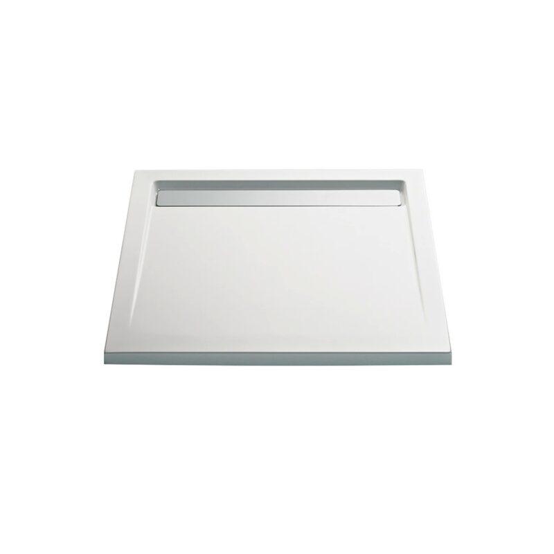 Duschwanne Quadrat mit Ablaufrinne