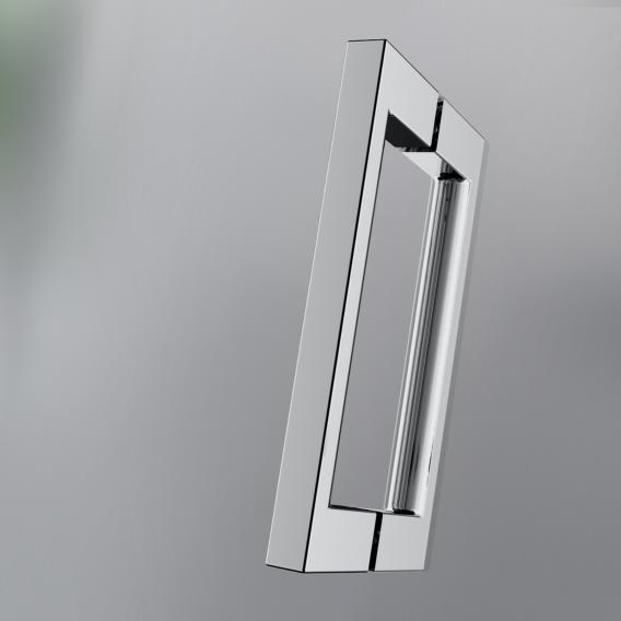 HSK Aperto Drehtür pendelbar 80cman Nebenteil ESG klar hell mit Edelglas / chrom optik