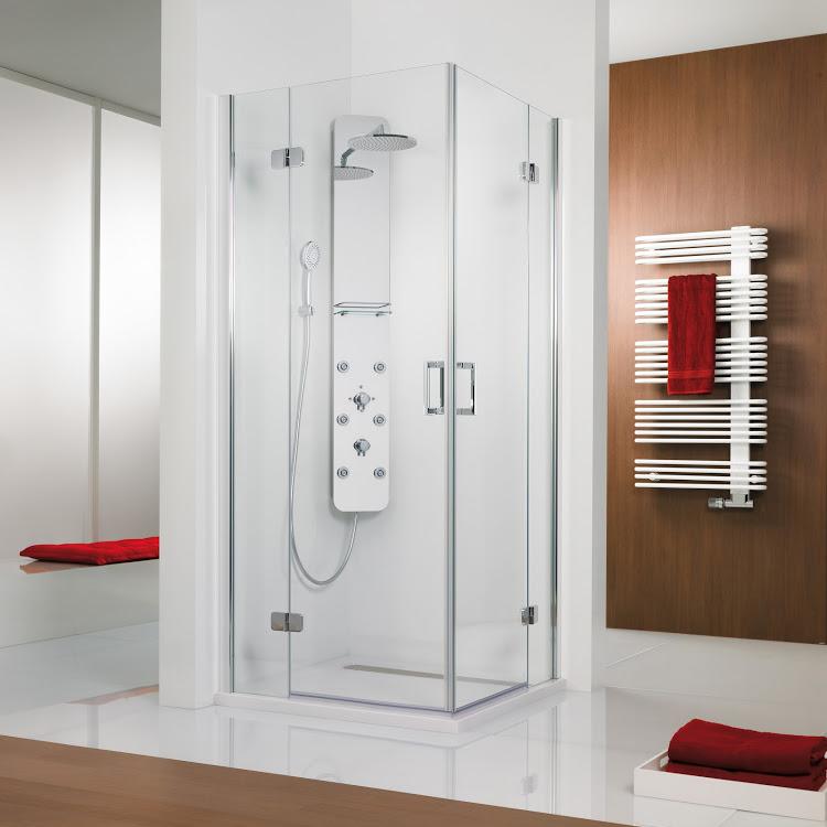 Duschkabine Premium Softcube Eckeinstieg, 4-teilig